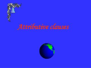 Attributive clauses