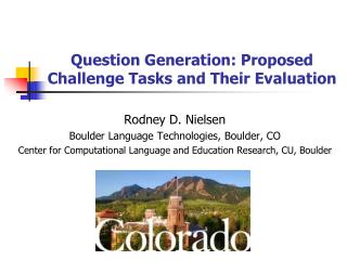 Question Generation: Proposed Challenge Tasks and Their Evaluation