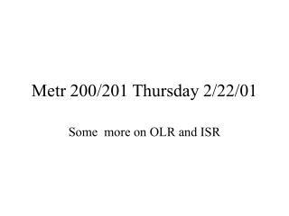 Metr 200/201 Thursday 2/22/01