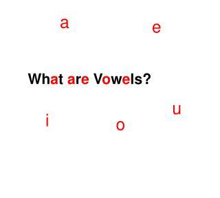 Wh a t  a r e  V o w e ls?