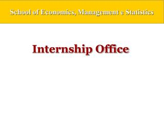 Internship Office