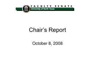 Chair�s Report