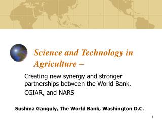 Science and Technology in Agriculture �