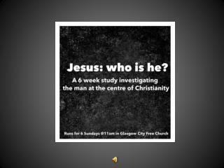 """Session 2 Jesus the """"story teller"""""""