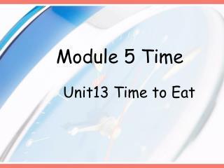 Module 5 Time