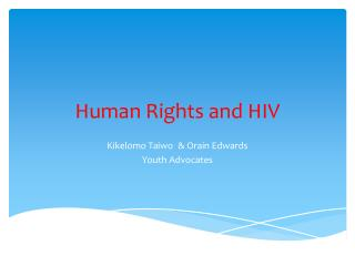Human Rights and HIV