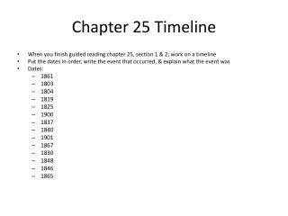 Chapter  25 Timeline