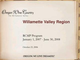Willamette Valley Region