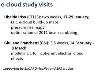 e-cloud study visits