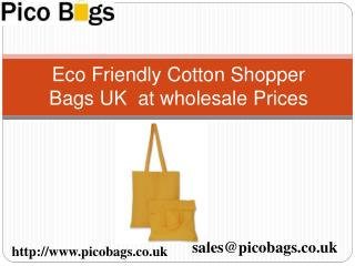 Cotton Shopper & Cotton Drawstring bags at wholesale rates