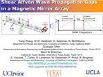 Shear Alfv n Wave Propagation Gaps in a Magnetic Mirror Array