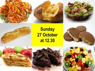 Sunday  27  October a t  12.30