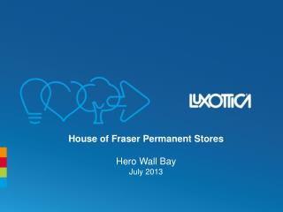 House of Fraser Permanent Stores Hero Wall Bay July 2013