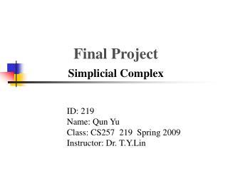 Final Project Simplicial Complex