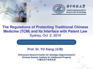 Prof. Dr. YU Xiang ( 余翔 )
