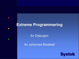 Extreme Programmering