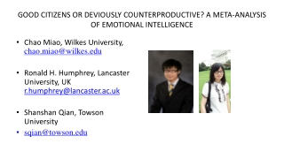 Counter-productive work behaviors  CWB