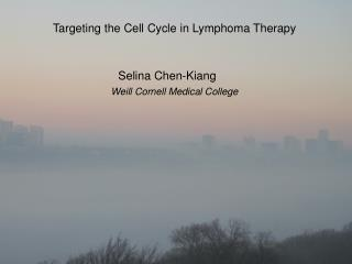 Targeting the Cell Cycle in Lymphoma Therapy Selina  Chen- Kiang Weill  Cornell Medical College