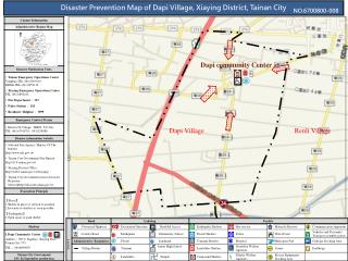 Disaster Prevention Map of Dapi Village, Xiaying District, Tainan City