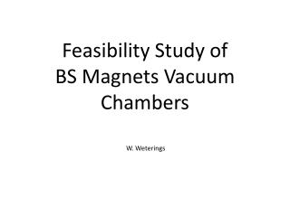 Feasibility Study of  BS Magnets  Vacuum Chambers
