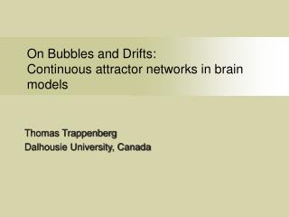 On Bubbles and Drifts: Continuous attractor networks in brain models