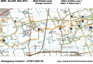 SERC  Seacliff   Ride 2013         West Fenton Loop 160km &120km Loop 1