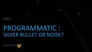 Programmatic  : Silver  Bullet or Noise?