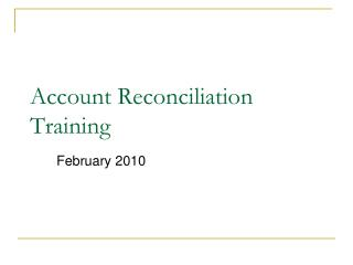 Account Reconciliation