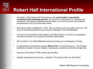 Robert Half International Profile