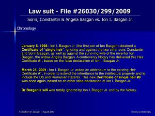 Law suit - File #26030/299/2009