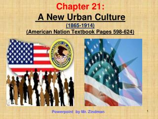 Chapter 21:  A New Urban Culture  (1865-1914) (American Nation Textbook Pages 598-624)