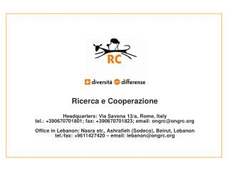 Ricerca e Cooperazione