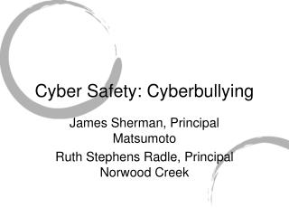 Cyber Safety: Cyberbullying