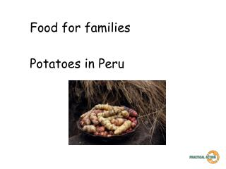 Food for families Potatoes in Peru