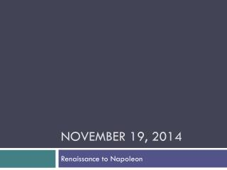 November 19, 2014