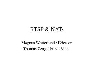 RTSP & NATs