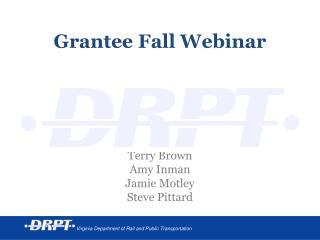 Grantee Fall Webinar