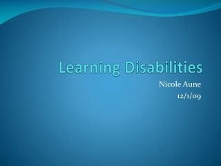 Specific learning disabilities (SLD)