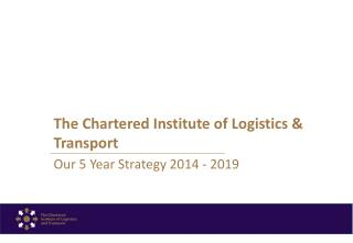 The Chartered Institute of Logistics & Transport