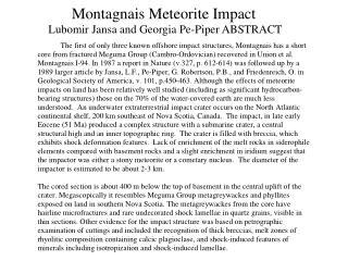 Montagnais Meteorite Impact