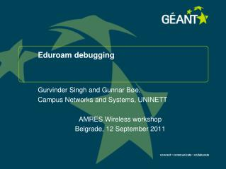 Eduroam debugging