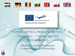 Lifelong Learning Programme Comenius School Partnerships