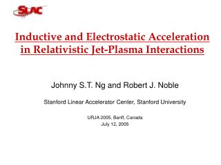 Inductive and Electrostatic Acceleration in Relativistic Jet-Plasma Interactions