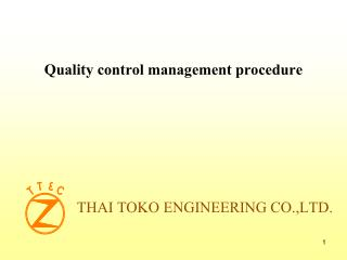 THAI TOKO ENGINEERING CO.,LTD.