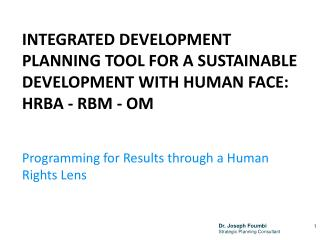 Programming for Results  through  a Human  Rights Lens