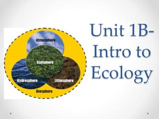 Unit  1B- Intro to Ecology