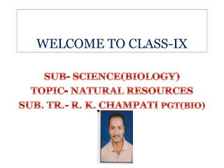 WELCOME TO CLASS-IX