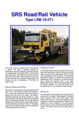 SRS Road/Rail Vehicle Type LRB 10-2T1