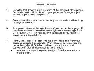 Odyssey  Books IX-XII