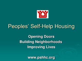 Peoples� Self-Help Housing